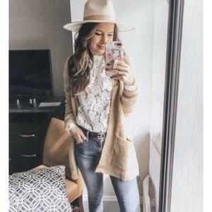 e34c55465fb228 Wayf Tops | Emma Puff Sleeve Lace Top | Poshmark